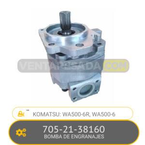705-21-38160 BOMBA DE ENGRANAJES, WA500-6R, WA500-6 KOMATSU