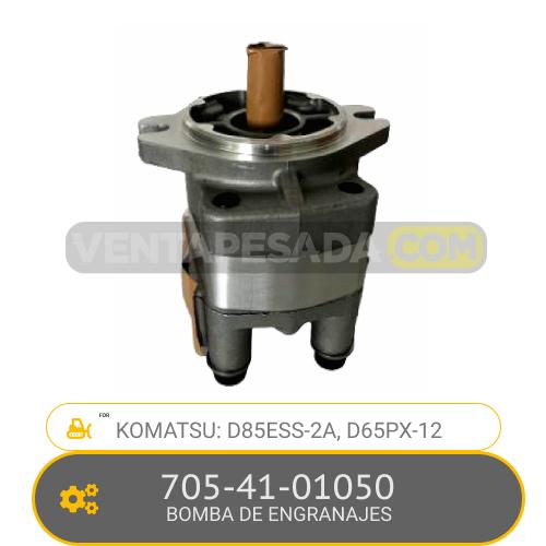 705-41-01050 BOMBA DE ENGRANAJES, D85ESS-2A, D65PX-12 KOMATSU