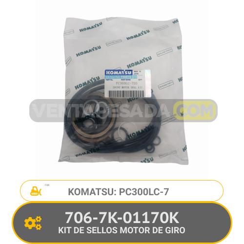 706-7K-01170K KIT DE SELLOS MOTOR DE GIRO PC300LC-7 KOMATSU
