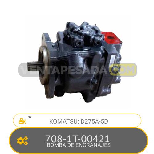 708-1T-00421 BOMBA DE ENGRANAJES, D275A-5D KOMATSU