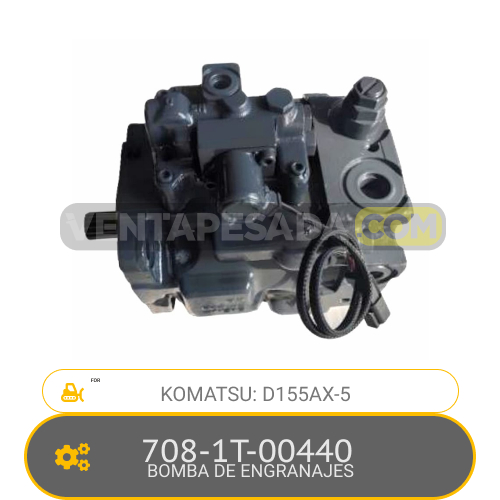 708-1T-00440 BOMBA DE ENGRANAJES, D155AX-5 KOMATSU