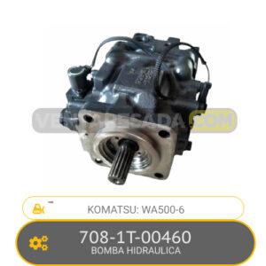 708-1T-00460 BOMBA HIDRAULICA, WA500-6 KOMATSU