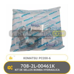 708-2L-00461K KIT DE SELLOS BOMBA HYDRAULICA PC200-6 KOMATSU