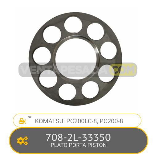 708-2L-33350 PLATO PORTA PISTON PC200LC-8, PC200-8, KOMATSU