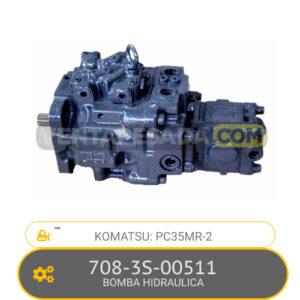 708-3S-00511 BOMBA HIDRAULICA, PC35MR-2 KOMATSU