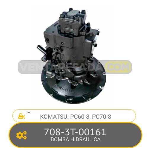 708-3T-00161 BOMBA HIDRAULICA, PC60-8, PC70-8 KOMATSU