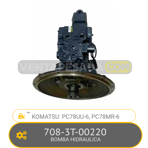 708-3T-00220 BOMBA HIDRAULICA, PC78UU-6, PC78MR-6 KOMATSU
