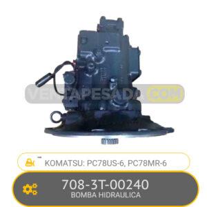 708-3T-00240 BOMBA HIDRAULICA, PC78US-6, PC78MR-6 KOMATSU