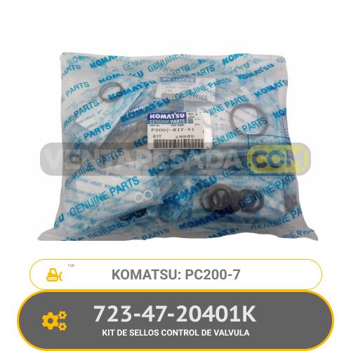 723-47-20401K KIT DEE SELLOS CONTROL DE VALVULA PC200-7 KOMATSU
