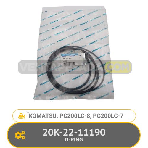 20K-22-1119 0-RING PC200-8, PC200LC-8, KOMATSU