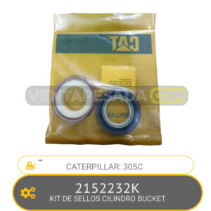 2152232K KIT DE SELLOS CILINDRO BUCKET 305C CATERPILLAR