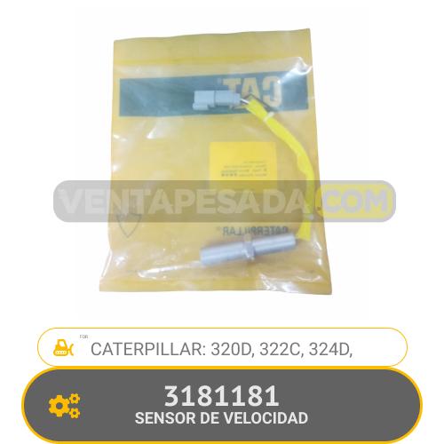 3181181 SENSOR DE VELOCIDAD 320D, 322C, 324D, CATERPILLAR