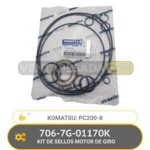 706-7G-01170K KIT DE SELLOS MOTOR DE GIRO PC200-8 KOMATSU