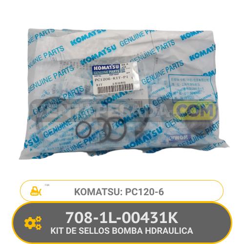 708-1L-00431K KIT DE SELLOS BOMBA HYDRAULICA PC120-6 KOMATSU