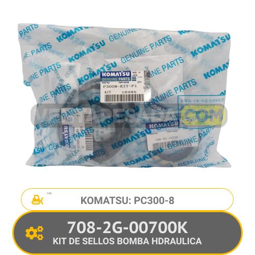 708-2G-00700K KIT DE SELLOS BOMBA HDRAULICA PC300-8 KOMATSU
