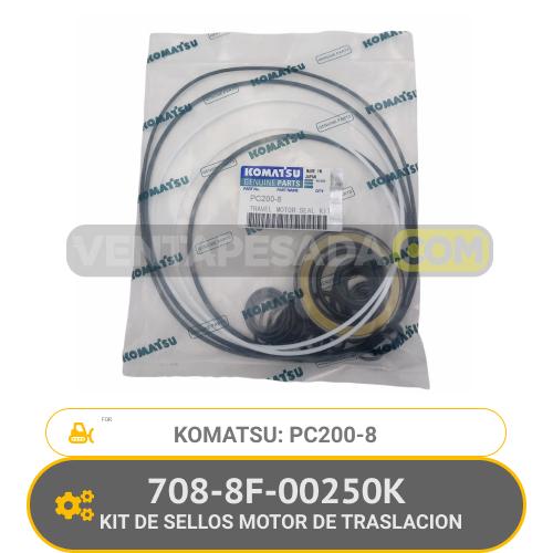 708-8F-00250K KIT DE SELLOS MOTOR DE TRASLACION PC200-8 KOMATSU